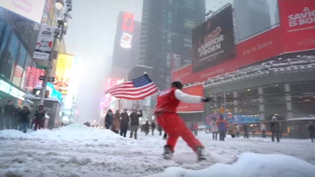 new york snowboarder