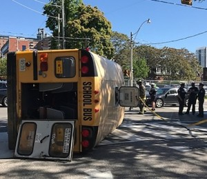 School bus rollover