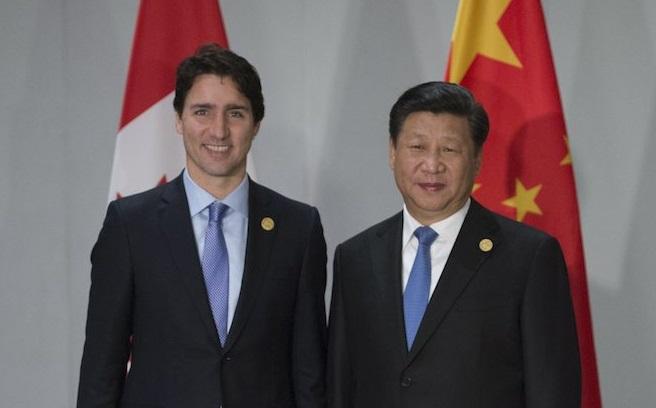 Justin Trudeau Xi Jinping