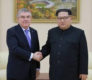 ioc president thomas bach meet north korea kim jong un