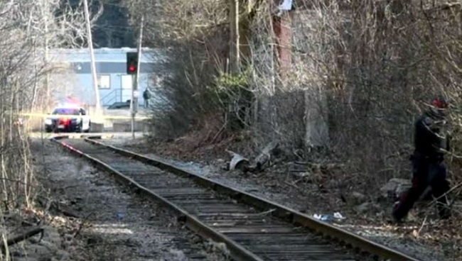 8 years old girl hit by train