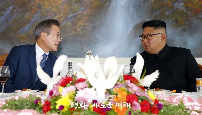 president moon and kim jong un dinner