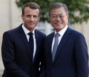 president moon and macron